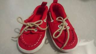 Red Soft Sole Boat Shoes for Baby