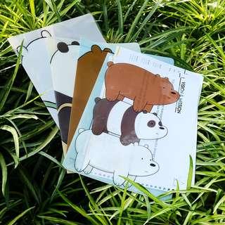 Bare Bears Plastic File Folder A4