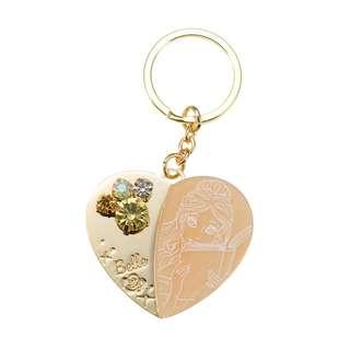Japan Disneystore Disney Store Belle Heart Charming Keychain