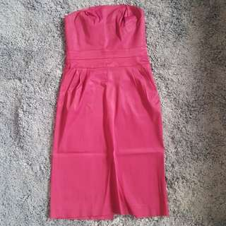 dress kemben fusia