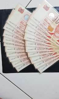 $10纸币 李显龙,胡適道签名