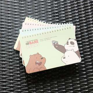 Bare Bears Spiral Weekly Planner