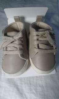 Crib Couture Soft Sole Baby Shoes in Khaki