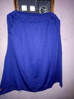 Rok wanita warna biru