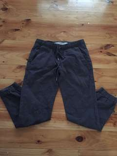 Cuffed chino pants grey