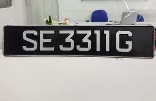 Car Plate for sales SE3311G