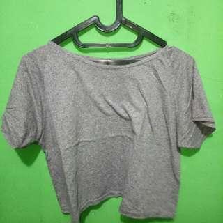 Crop top light grey