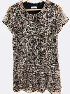 MANGO Animal Print shift dress