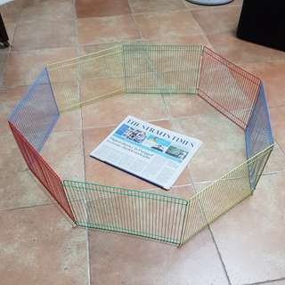 New Rainbow Hamster Play Pen Fence & Hide