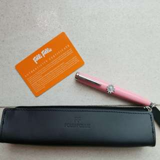2009 Folli Follie Ball Pen in Pink 走珠原子筆 連原裝卡及套