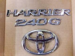 Toyota harrier rear emblem set