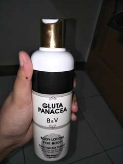 Body lotion gluta