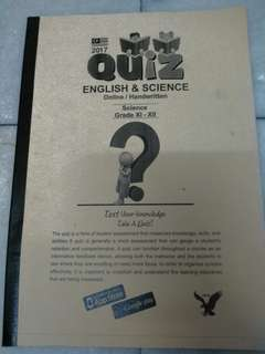English & Science Quiz Reference