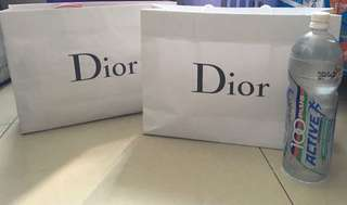 Dior paper bag large( authentic)