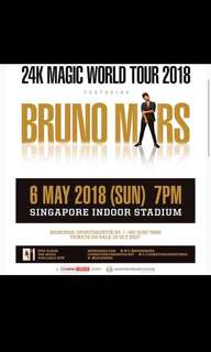 Bruno Mars 24K magic world tour 2018 - Cat 5