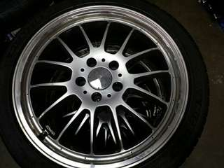 "18"" RAYS Sebring GSMType-X Rims w PS4 Tyres"