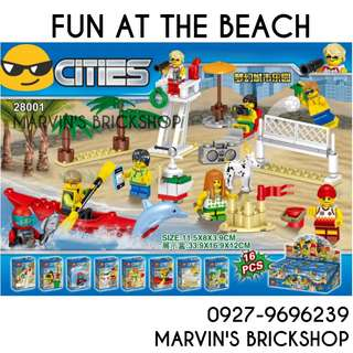 Latest Fun At The Beach 8in1 Minifigures