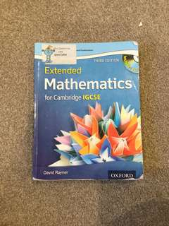 Extended Mathematics Cambridge IGCSE