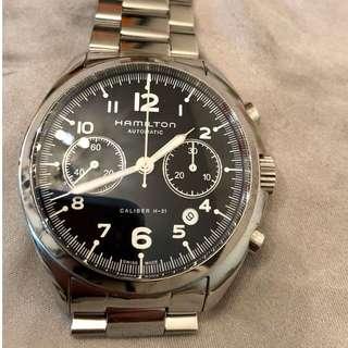 瑞士 Hamilton 卡其航空自動計時手錶