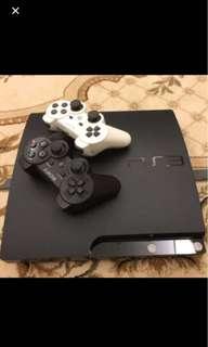 PS3 + 搖桿二支+遊戲二片