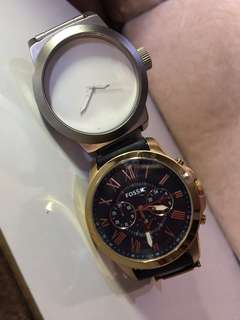 Aunthentic Fossil and Kenneth Cole Watch.