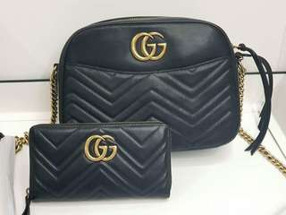 Gucci Marmont Bag and Wallet Set