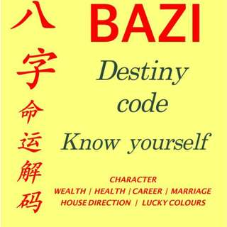 Feng shui of BAZI Destiny code -  house direction to enhance lucky health wealth success harmony
