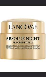 Lancome absolue night cream