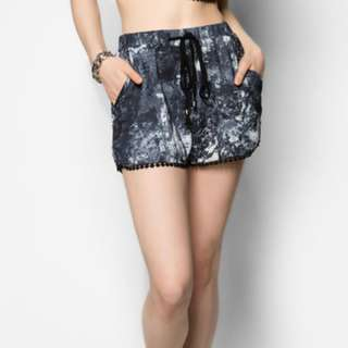 BN Something Borrowed Pom Pom Printed Drawstring Shorts