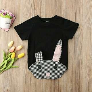 🍀Baby Girl Boy Short Sleeves Bunny Cotton Romper🍀