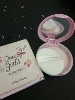 New Bedak Dear Girls Pink Brand Ettude House Ori