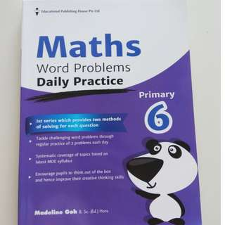 Primary 6 Math Workbook, Primary 6 Chinese Workbook and Grammr Guide