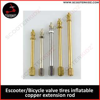 Escooter tires valve tires inflatable copper extension rod [ For DT/SW/OEM ]