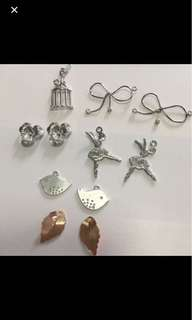 Silver and Rose Gold Charms for Sale