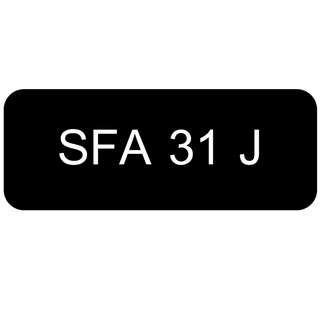 Car Number Plate for Sale: SFA 31 J