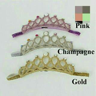 *FREE DELIVERY to WM only / Ready stock* Kids princesz headband accesories each pink as shown design/color. Free delivery is applied for this item.