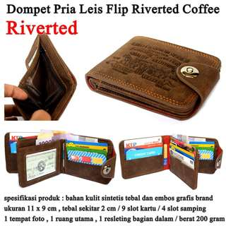 Dompet Pria Leather Leis Flip COFFEE RIVERTED
