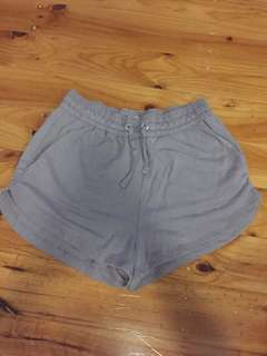 Purple H&M shorts