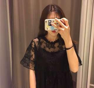 2 layered lace dress