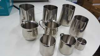 Many Milk Pitchers - 01 Lot of 07 Milk Pitchers / containers - Latte Art etc
