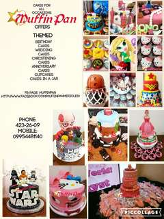 costumized cakes... prices may vary to sizes