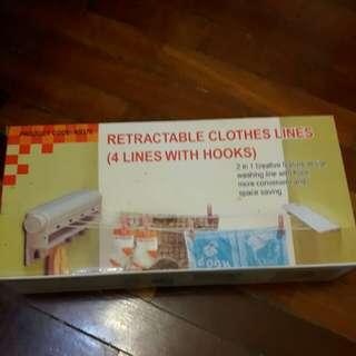 Retractable clothes lines
