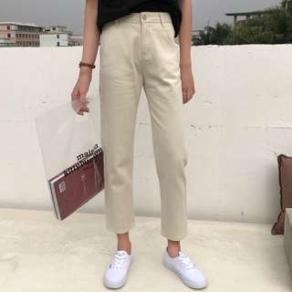 Chic Denim BoyFriend Mom Straight Leg Long Jeans