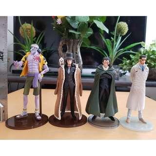 Arlong Dragon Rob and Vergo One piece Figures