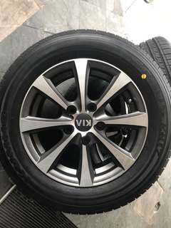 Rims with new tyre