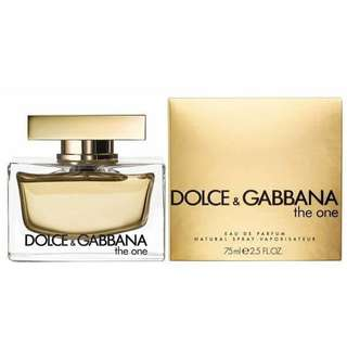 d&g the one for women 75ml