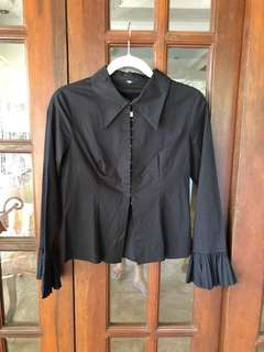 Black Button Down - Small