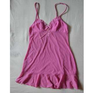Victoria Secret Meshed Laced Pink Inner Wear