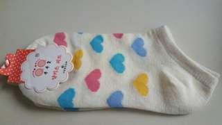 Sweet multi color hearts socks