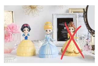 日本迪士尼公主的扭蛋 (有現貨)